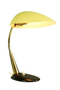 Cosack Designer Tisch Leuchte Messing Gelb & Schwarz Lese Lampe Vintage 50er