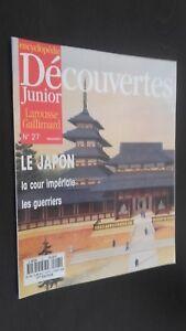 Zeitschrift-Wochenkalender-Illustrierte-Entdeckungen-Junior-Nr-27-Gallimard-Be