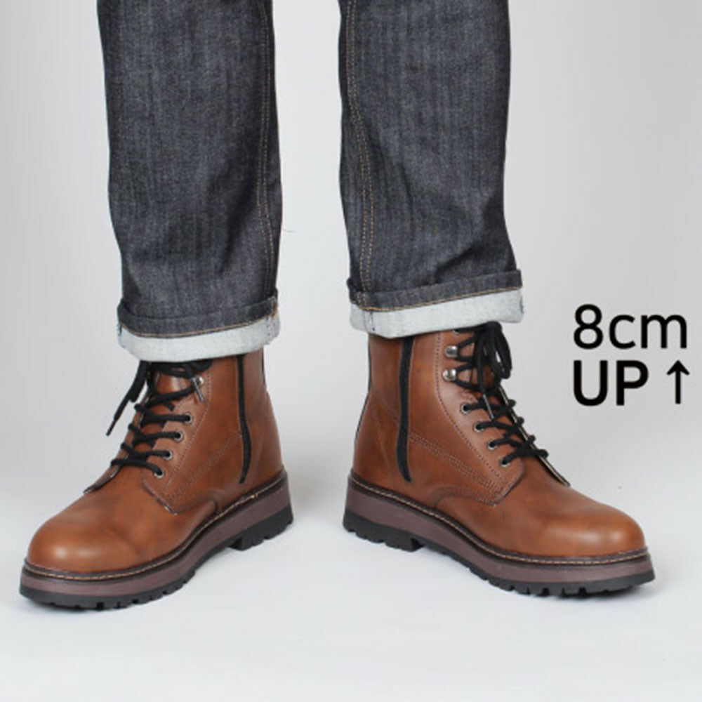 KrystalSB Korea Made Mens Stiefel 3.14  8cm Elevator schuhe US710