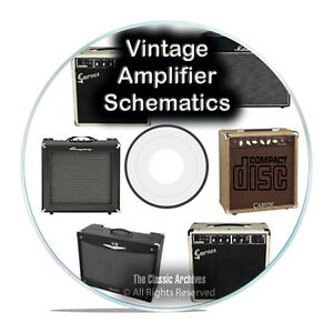 details about 792 vintage amplifier schematics, fender, fisher, marshall peavey vox cd pdf g83 carvin pickup wiring carvin pro bass ii schematic #15