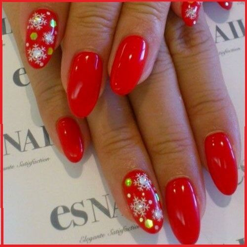 Christmas Glitter White Snowflakes Nail Art Stickers Decals Gel