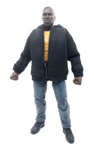 L Size Black Baseball Jacket for Marvel Legends Luke Cage No Figure
