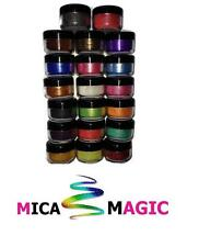 Perfect pearl Mica powder pigments cosmetic soap making bath bombs 16 x5ml pots