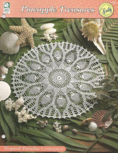 Pineapple Treasures HOWB Tropical Paradise Centerpiece Doily Crochet Pattern