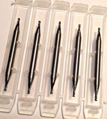 "3//32/"" LOC 4 Flute Single End Stub Carbide End Mill USA #12699 3//64/"" Diameter"