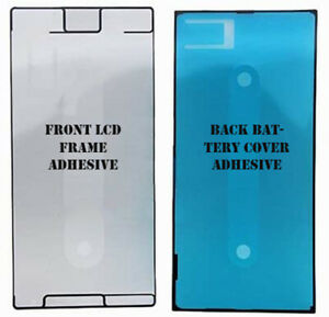 Sony Xperia XZ Premium Front Screen Frame, Back Battery cover Adhesive Sticker