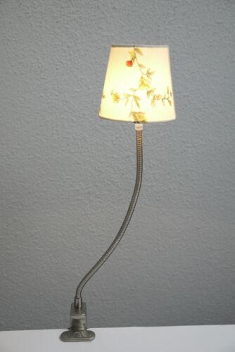 12V Halogen-Klemmleuchte Klee mit Stoffschirm Regal Leuchte Lampe Klemmlampe