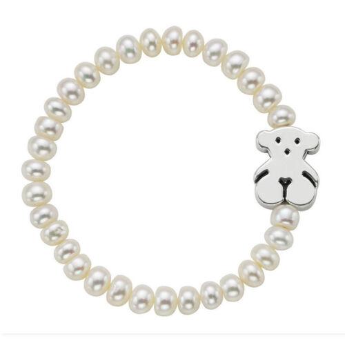 Luxe Bijoux Teddy Bear Natural Pearl 14K bracelet bijoux cadeau pour femme