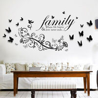 Mural Decal Paper Art Decoration Small Butterfly Vine 3D Butterfly Wall Sticker