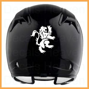 GB LION MOTORCYCLE HELMET REFLECTIVE BLACK OR WHITE DECAL STICKER - Vinyl decals for motorcycle helmets