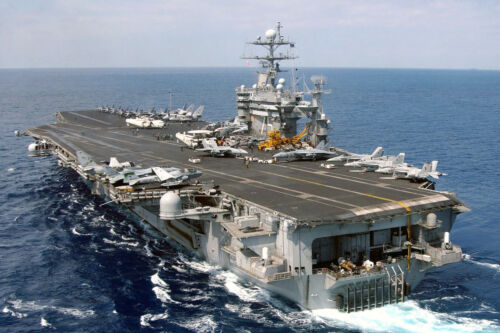 8x12 Photo US Navy Carrier USS Harry S Truman Steams Underway in the Med.
