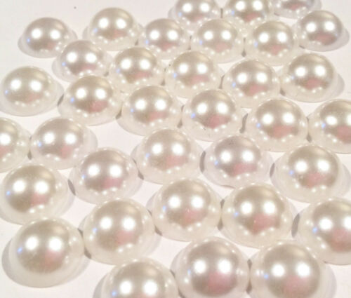 12mm white flat back pearls headband centers DIY scrapbooking 100 pcs