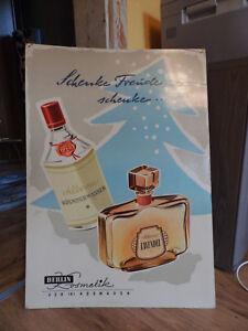 Werbeschild , DDR, VEB Berlin Kosmetik  ,  50 iger 60 iger , 86 x 60 cm