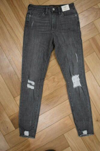 F/&F Chewed Hem Distressed//Ripped Laila Stretch Skinny Jeans 932