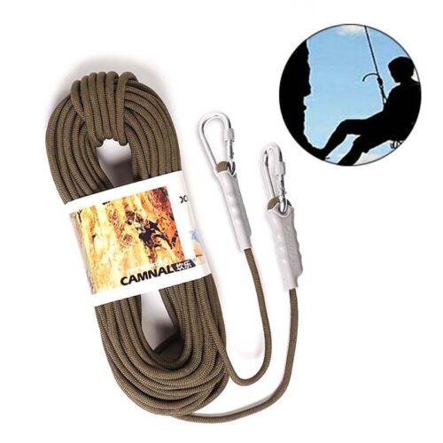 10m 9.5mm Corde D/'Escalade Escalade Auxiliaires Rope avec 2 Pièce Mousqueton