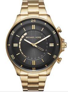 616b3b10d442 Michael Kors Men s 45mm Access Reid Gold Hybrid Smart Watch MKT4014 ...