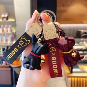 Fashion-Punk-French-Bulldog-Keychain-PU-Leather-Dog-Keychains-for-Bag-Penda-Nuid