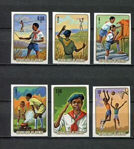 s12266A) Dealer Stock Guinea MNH 1974 Scouting 6v Imperforated X 10 Sets