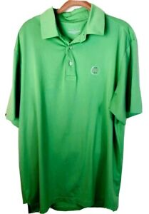 Details about Straight Down Men's Golf Polo Shirt Green Short Sleeves Size Large