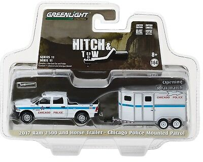 1:64 GreenLight *HITCH /& TOW* VANISHING POINT Ram 2500 Challenger /& Trailer NIP