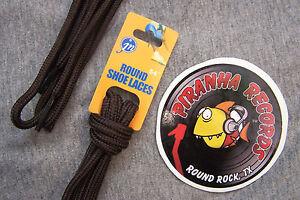 Brown-Thin-Round-54-034-x-1-8-034-3-8-034-JN-Shoelaces-Shoe-Strings-Piranha-Records