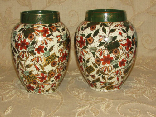 Antique Collectable A Pair Of Earthenware Vases Cumberlidge & Humphreys England
