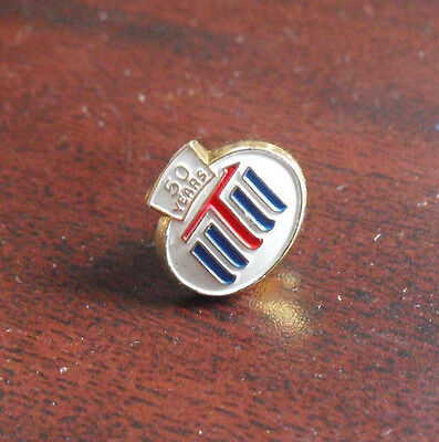 Vintage United Transportation Union 50 Year Service Lapel Pin Pinback