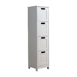 Slimline Bathroom Floor Cabinet White