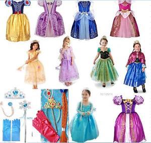 Robe-Deguisement-Costume-La-Reine-des-Neiges-Frozen-Elsa-Anna-Enfant-4essayage