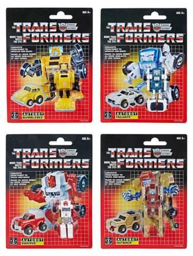 Transformers G1 réédition Walmart Mini-BOT Outback Bumblebee Swerve hayon set x4