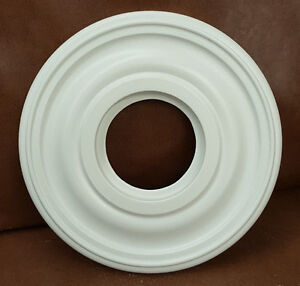"12"" White Henta Mini Plano Ceiling Medallion DIY Paintable ABS Light Wall Decor"