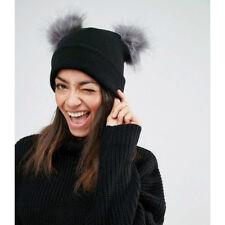 eef86e6e0f7 item 6 Womens Winter Warm Crochet Knit Double Faux Fur Pom Pom Beanie Hat  Ski Cap AB -Womens Winter Warm Crochet Knit Double Faux Fur Pom Pom Beanie  Hat Ski ...