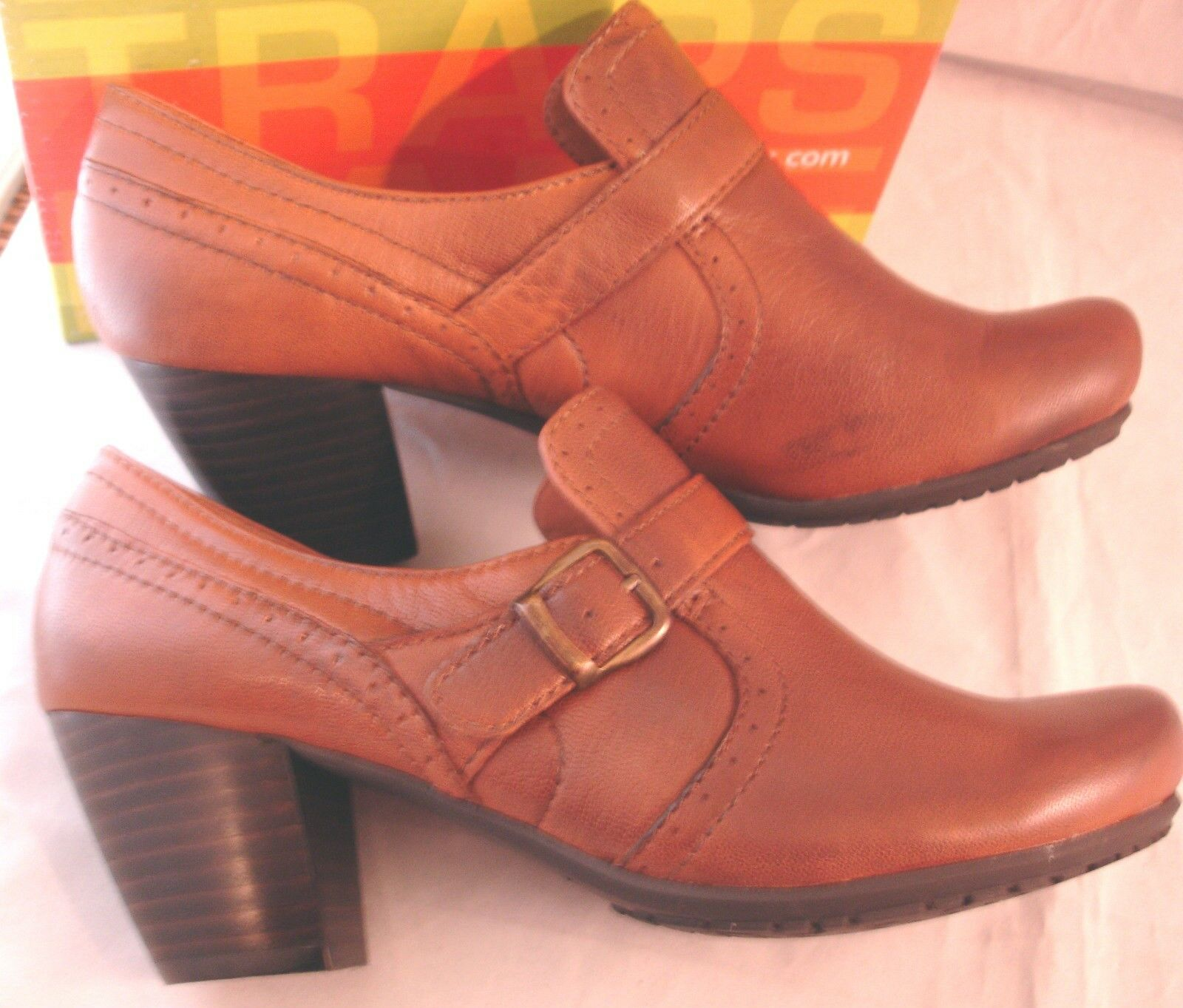 BARETRAPS New New New  Haydon  Brown Leather Shorties Heels Booties Womens Sz 8.5 M NIB 225fa3