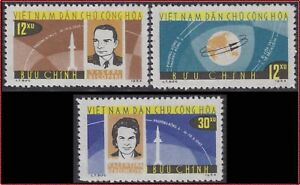 VIETNAM-du-NORD-N-360-362-Espace-1964-North-Vietnam-291-293-Space-MNH
