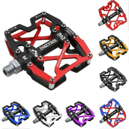 "Mzyrh MTB Mountain Bike Pedals CNC 9//16/"" Cycling Bicycle Sealed 3 Bearing Pedals"