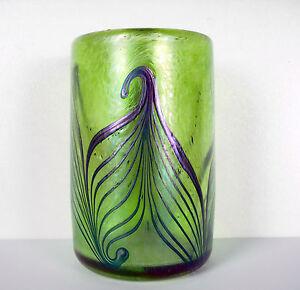 Verre Art Nouveau Signé R. Held Art Glass C1900 Jugendstill Robert Held H :10 Cm