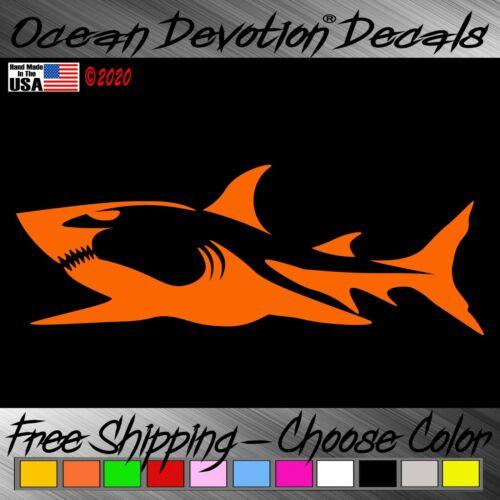 Sticker V2x Sea Fishing Car Window Salt Life Shark Ocean Devotion Vinyl Decal