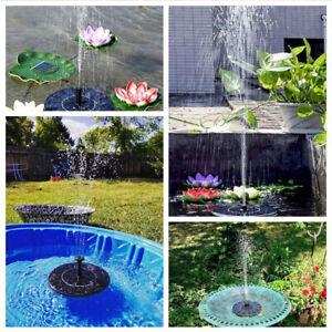 Solar Brushless Pump Water Cycle Pond Fountain Gardening Energy Fountain Garden