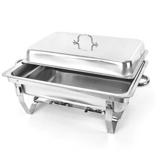 9L Chafing Dish Speisenwärmer Edelstahl Warmhaltebehälter Buffet-Set Wärmer DE