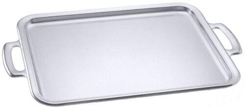 aus Edelstahl 18//10 rechteckig Tablett 5 Größen wählbar Serviertablett