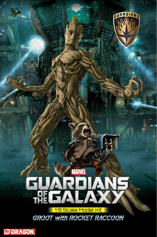 Dragon  38341 1 9 Guardians of the the the Galaxy Groot with Rocket Raccoon kit nuovo dfdb92