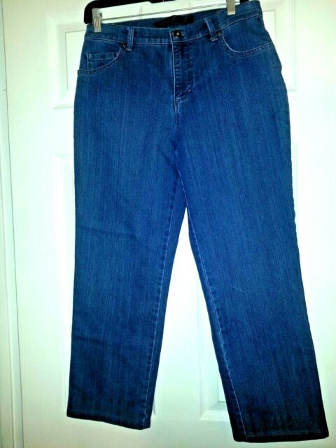 Gloria Vanderbilt Ladies/' Amanda Denim Jeans DARK BLUE PORTLAND Select Size