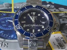 Invicta Mens 47mm Grand Diver Automatic Blue Dial Stainless Steel Bracelet Watch