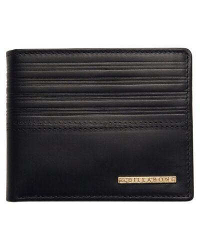 Men/'s Billabong Phoenix Black Leather Flip Wallet NWOT. RRP $49.99