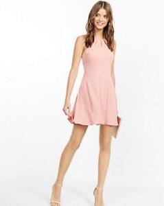 High Neck Pink Dresses