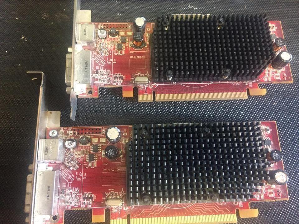 (LOT OF 2) ATI 109-B17031-00 256MB PCIe DVI/SVIDEO CARD B170 LOOK