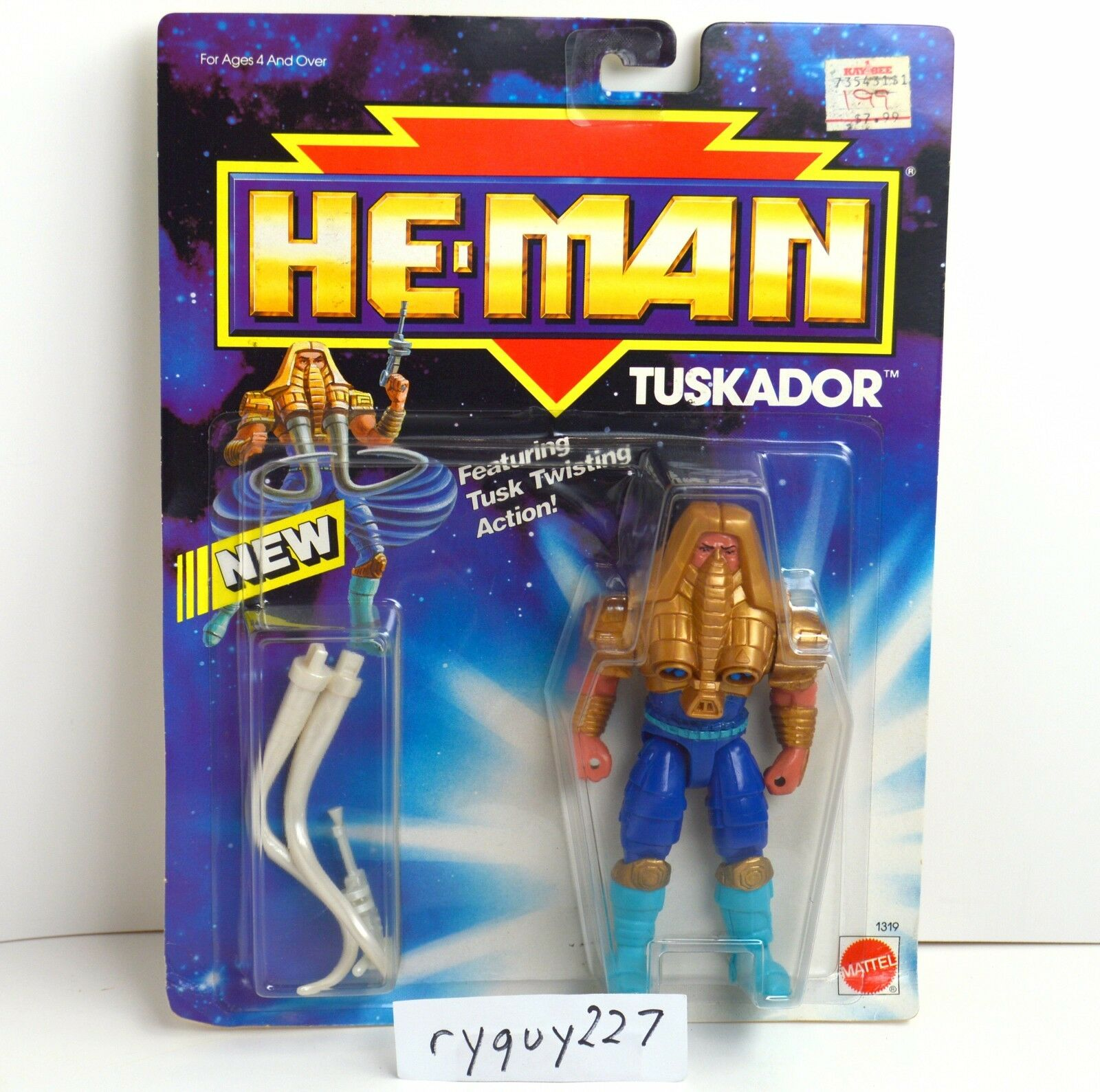 MOTU, Tuskador, He-Man New Adventures, MOC, sealed, carded, figure, NA, complete