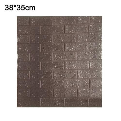 10Pcs 3D Tile Brick Wall Sticker Self-adhesive Waterproof Foam Panel Wallpaper /&
