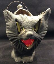 Rare Antique American Pulp Halloween Black Cat Lantern