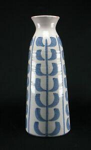 Skandinavische-Art-Deco-Kunst-Studiokeramik-Vase-vintage-scandi-style-signiert